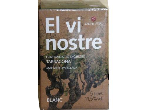 """Vino """"Vi nostre"""" Bag-in-box 5l blanco"""